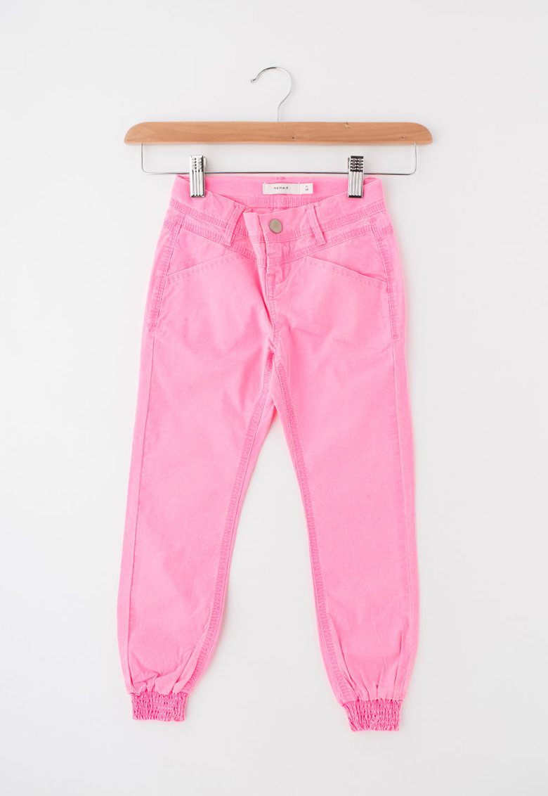 Pantaloni roz neon slim fit Tenna de la Name it