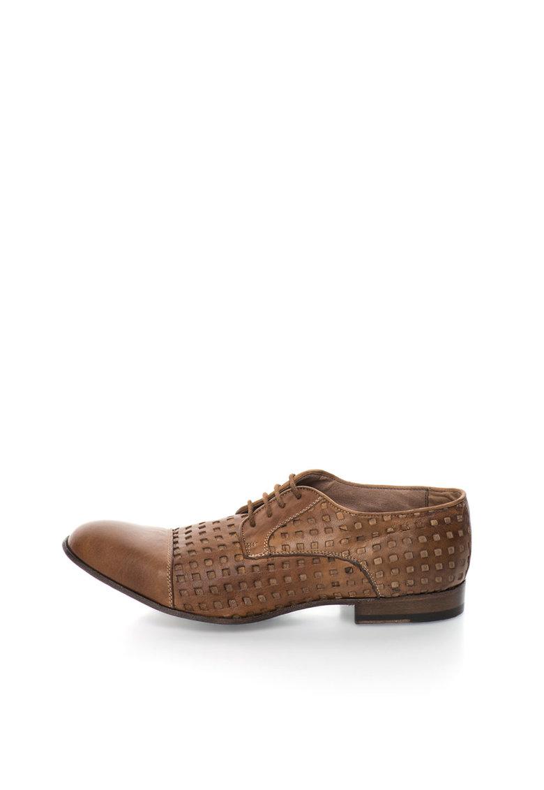 Pantofi maro cu decupaje Papua