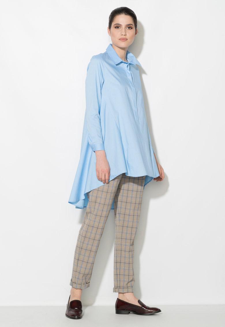 Zee Lane Denim Rochie tip camasa asimetrica albastru azur