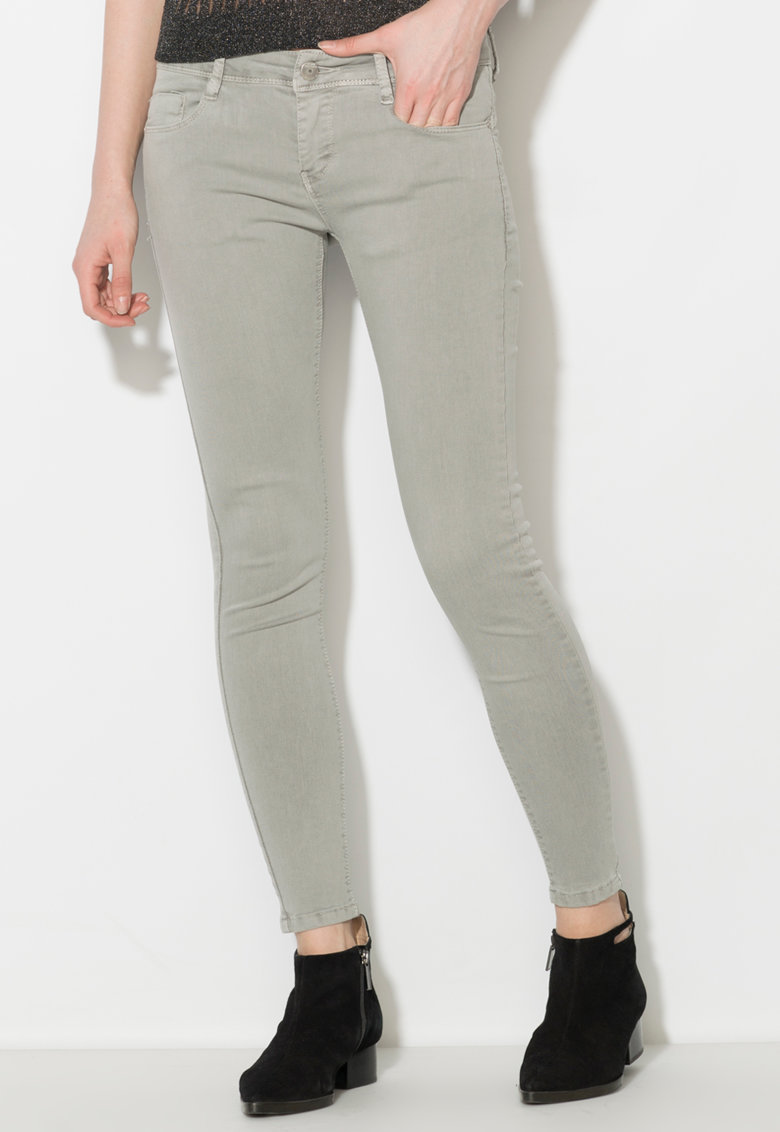 Zee Lane Denim Pantaloni conici gri de fier