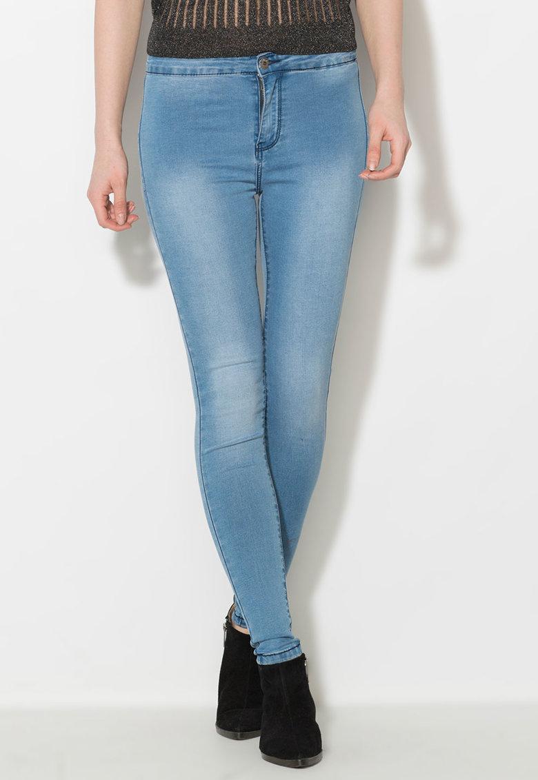 Jeansi elastici skinny albastri