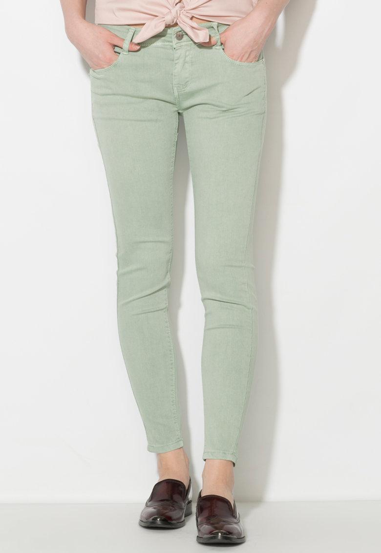 Pantaloni conici verde celadon