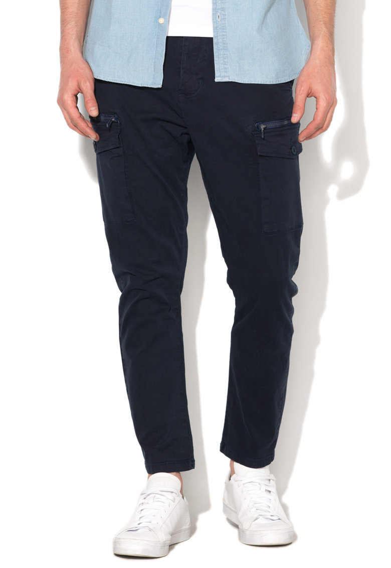 Zee Lane Denim – Pantaloni cargo bleumarin inchis ZL17S-3067-DARK-BLUE