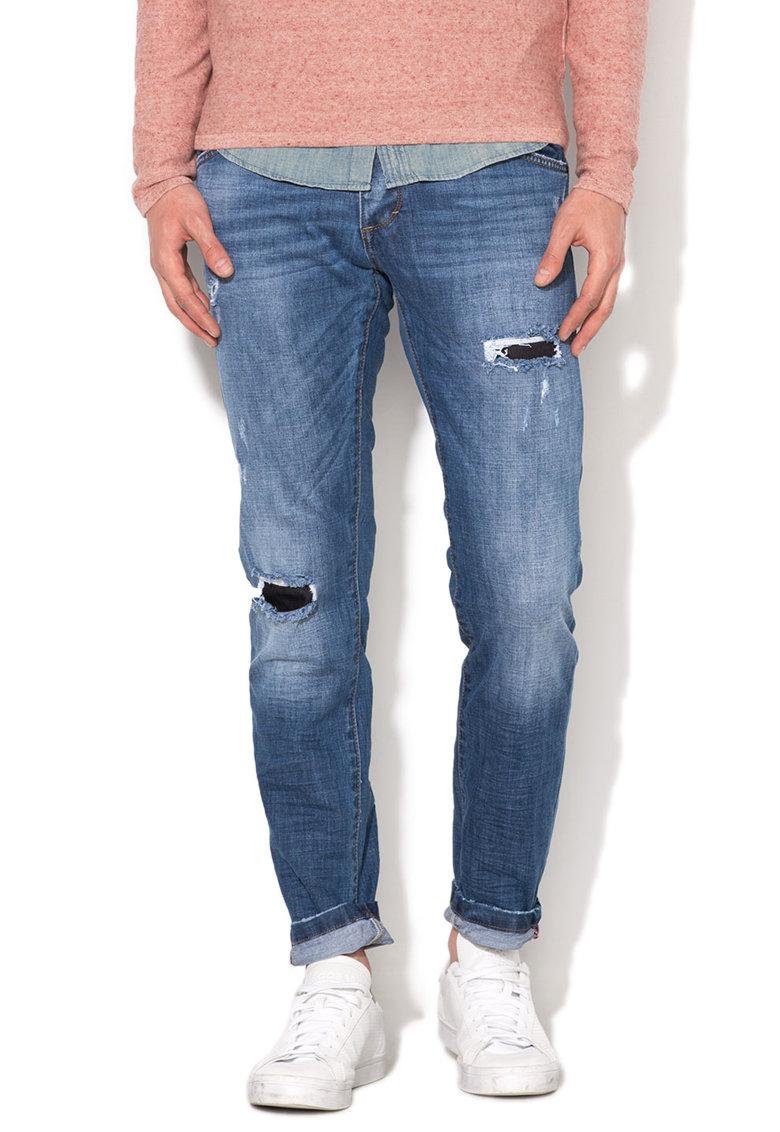 Zee Lane Denim Jeansi albastru inchis cu rupturi decorative