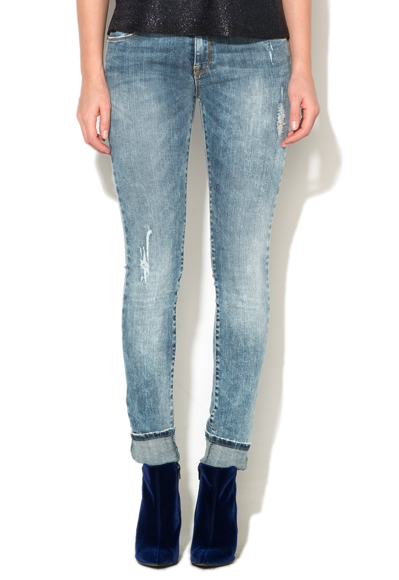 Jeansi albastru inchis slim fit Georgia