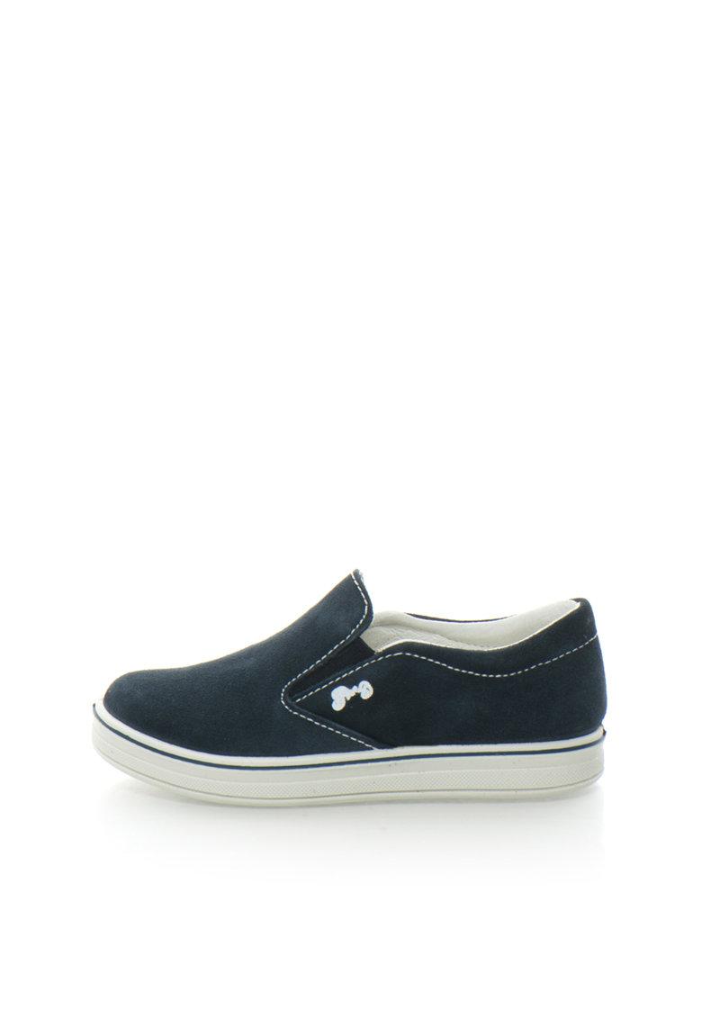 Primigi Pantofi slip-on bleumarin de piele intoarsa