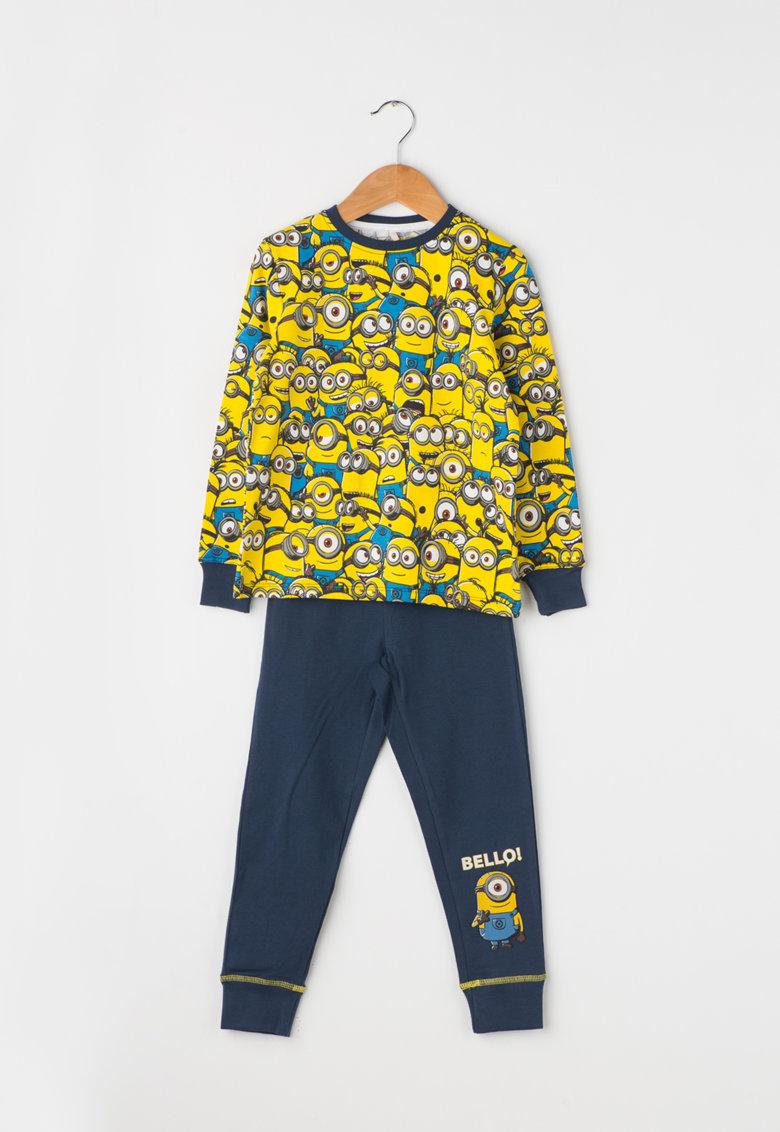 Pijama multicolora cu imprimeu Minions Balzo