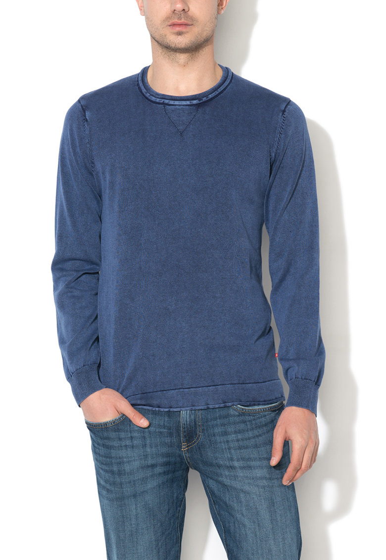Pulover albastru melange Merchan