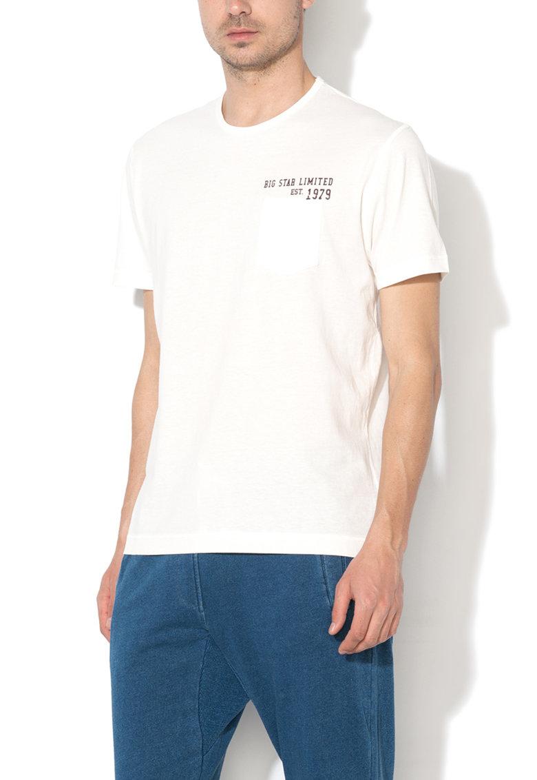 Tricou alb cu imprimeu text Arabum de la Big Star