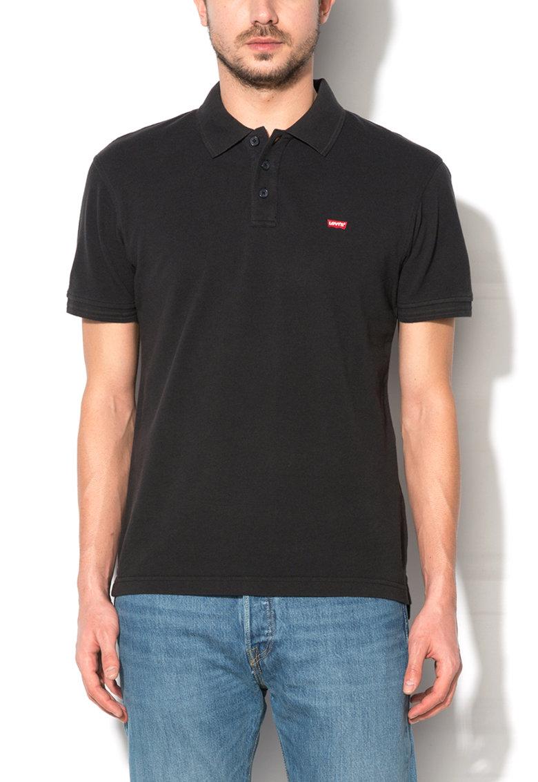 Levis Tricou polo negru cu logo