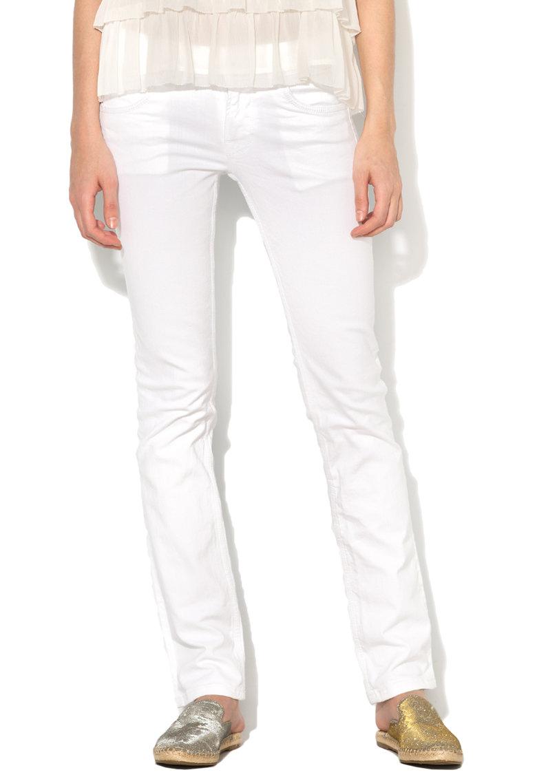Blugi drepti albi Saturn de la Pepe Jeans London