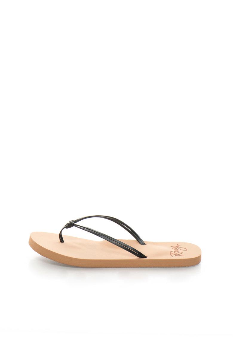 Papuci flip-flop negri cu detaliu innodat Lahaina