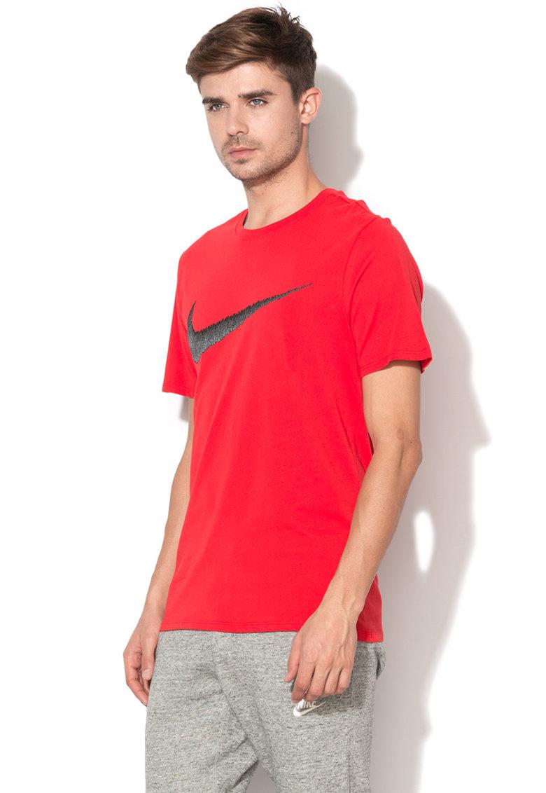 Tricou athletic cut cu imprimeu logo