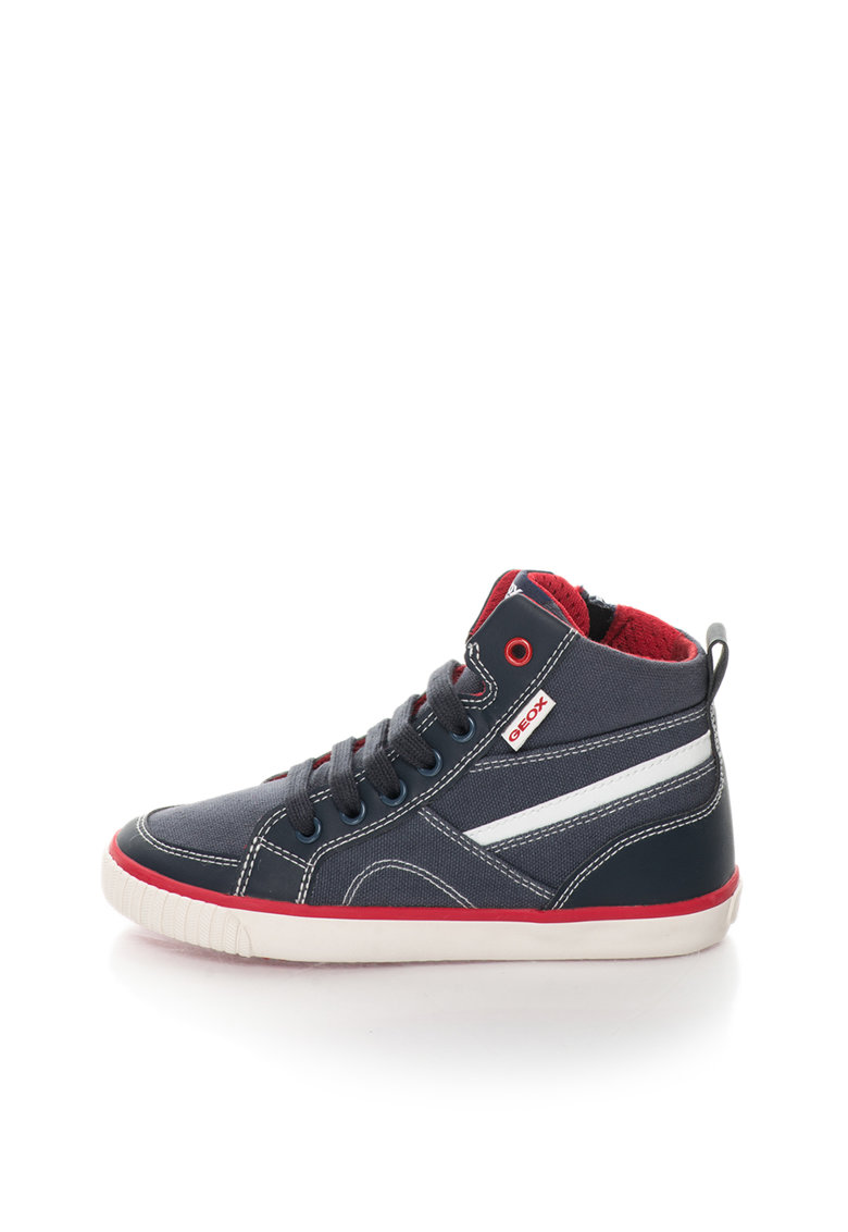 Geox Pantofi sport inalti albastri Kiwi
