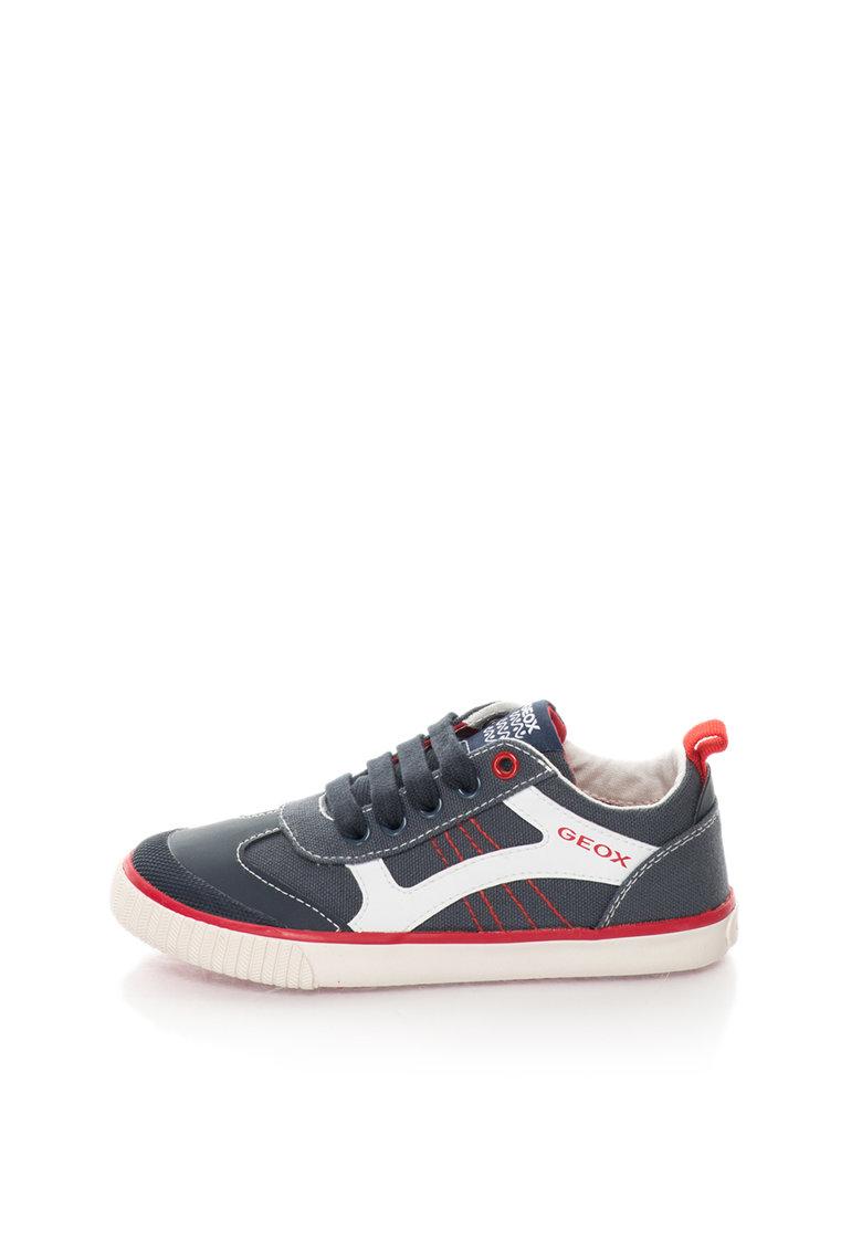 Geox Pantofi sport gri inchis cu rosu Kiwi