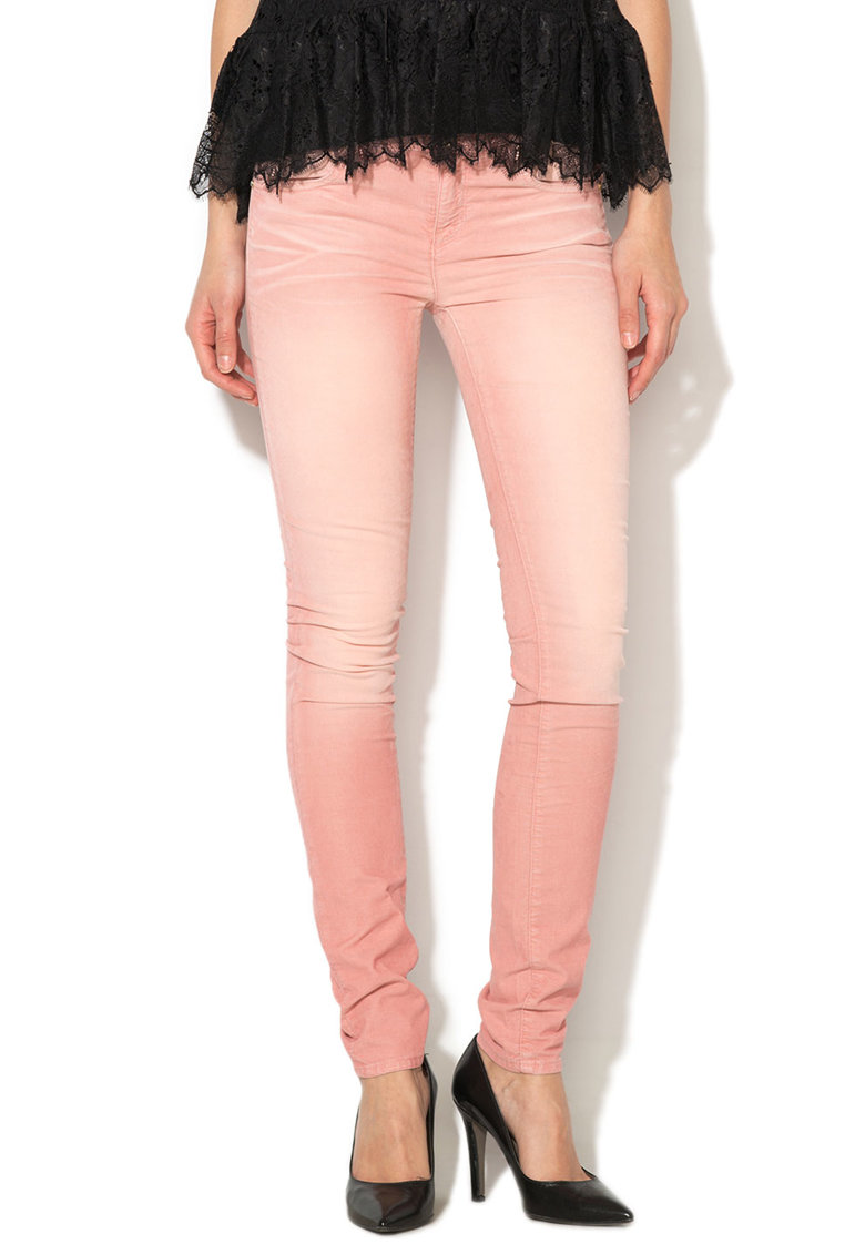 Juicy Couture Pantaloni skinny reiati roz deschis