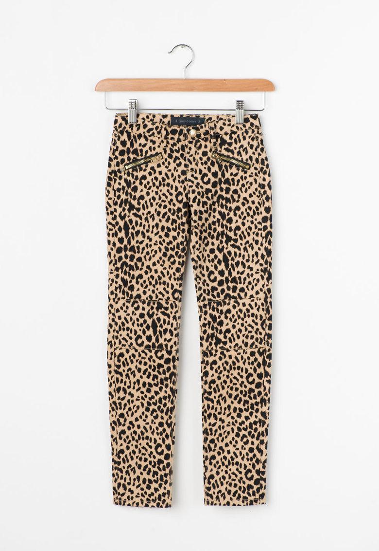 Pantaloni skinny cu animal print de la Juicy Couture