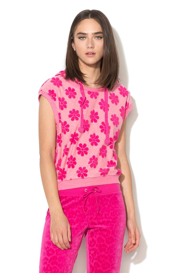 Hanorac roz cu maneci scurte de la Juicy Couture