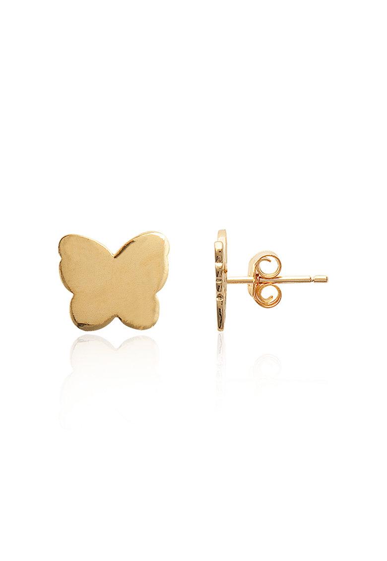 LAtelier Parisien Cercei in forma de fluture cu tija si placati cu aur