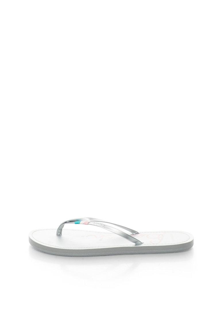 Papuci flip-flop argintii BENCH