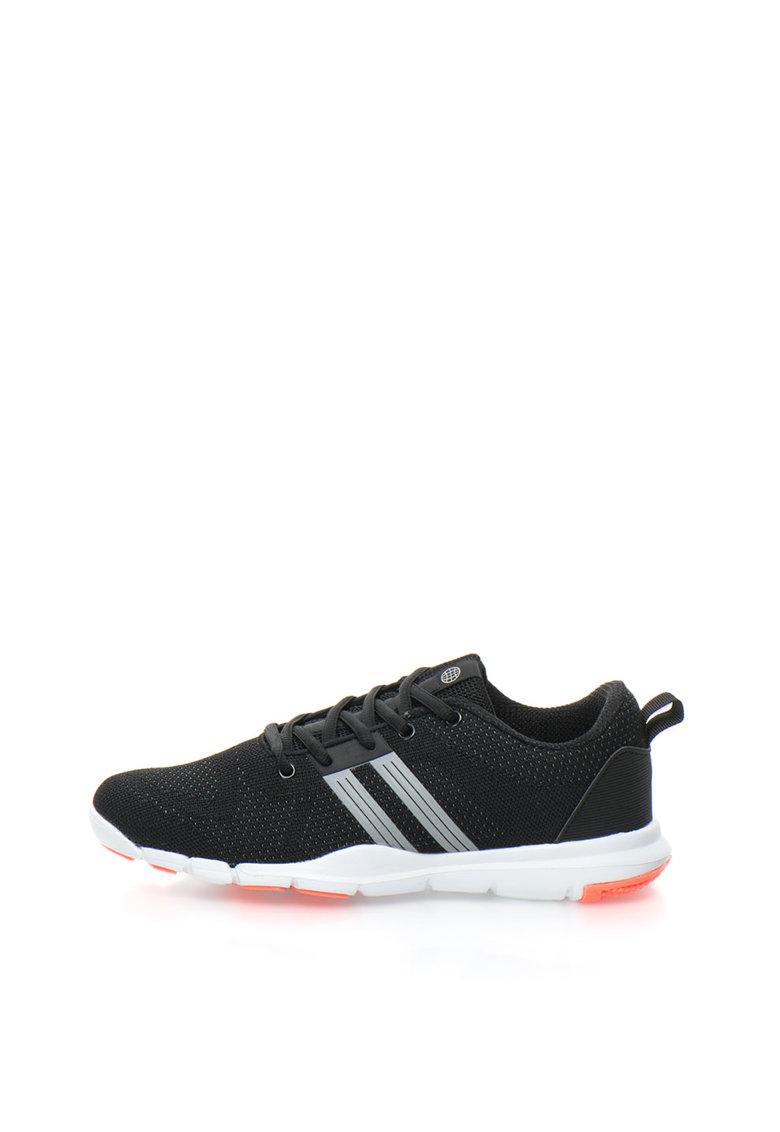 BLEND Pantofi sport negri cu detalii reflectorizante