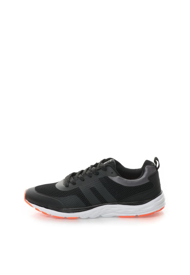 BLEND Pantofi sport negri cu insertii de plasa
