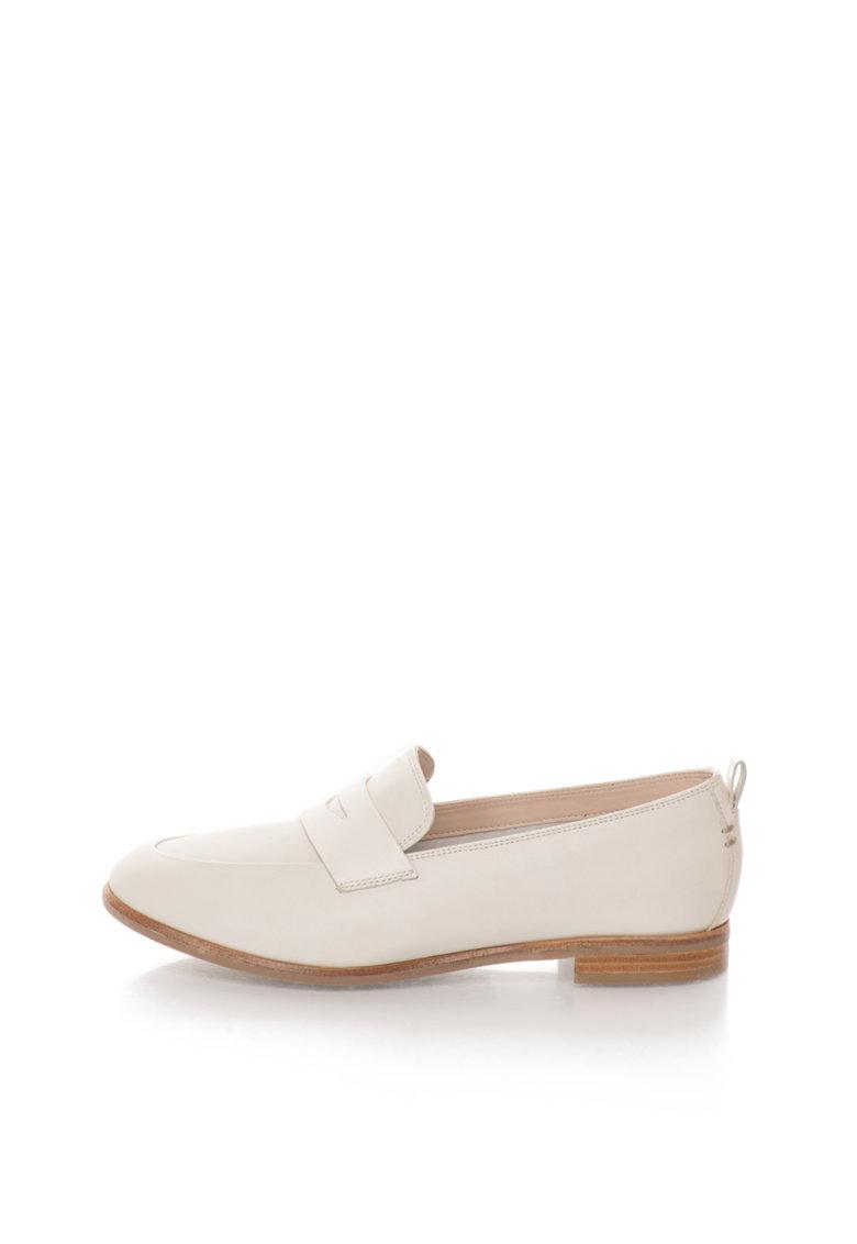 Pantofi loafer alb prafuit de piele Alania Belle de la Clarks