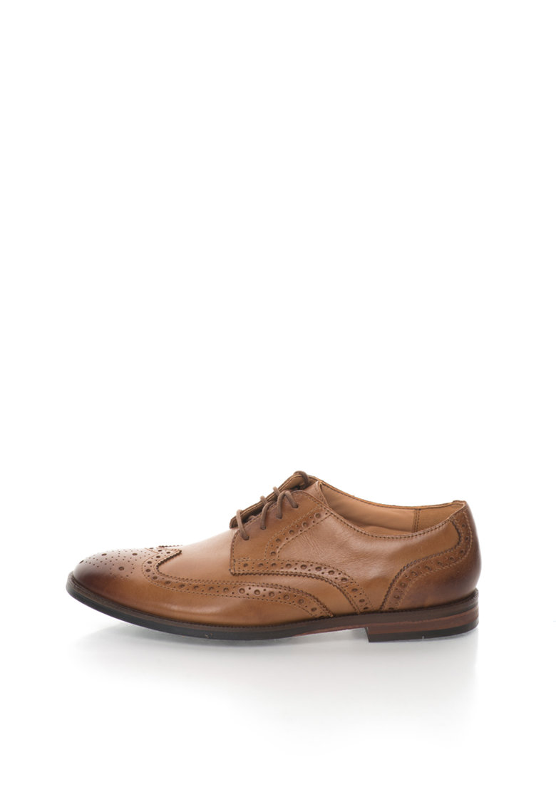 Clarks Pantofi brogue maro caramel de piele Broyd Limit