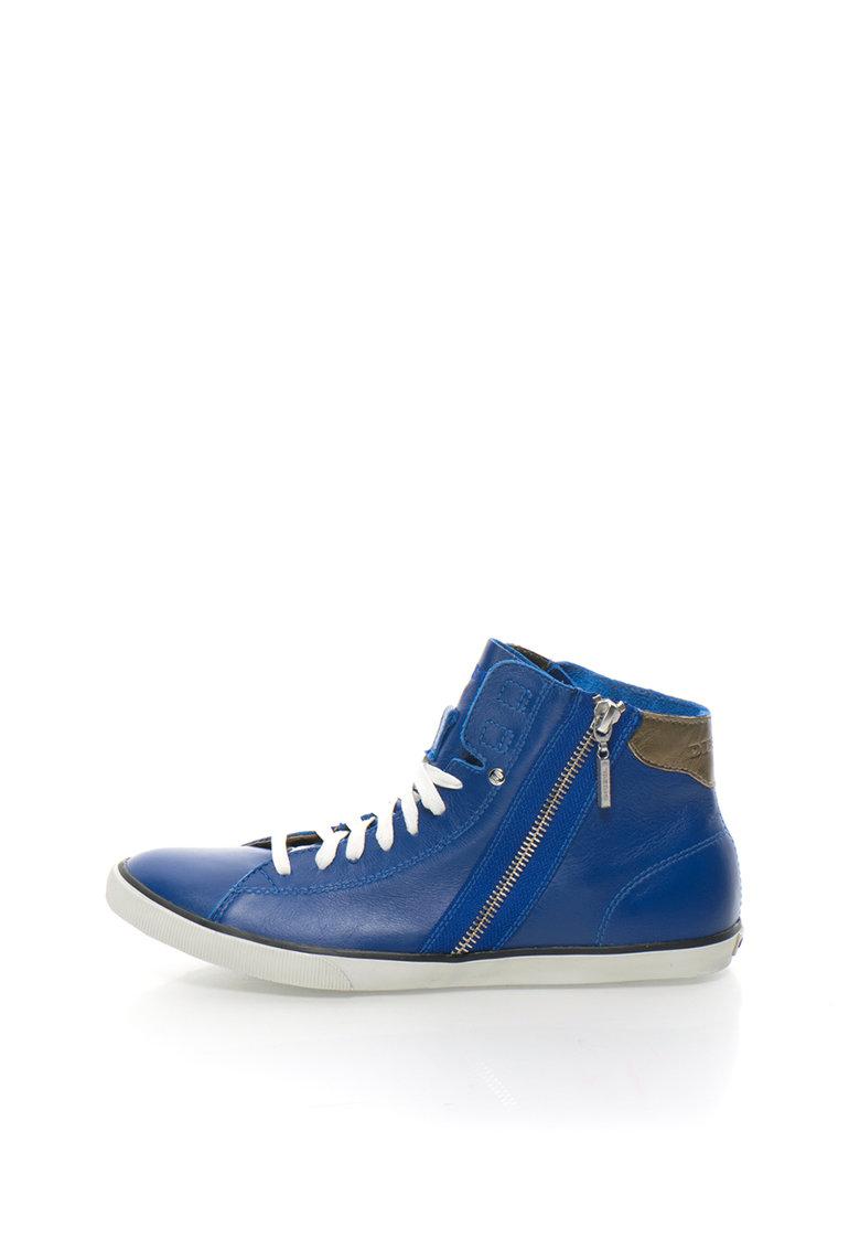 Diesel Pantofi sport inalti albastru royal de piele Beach