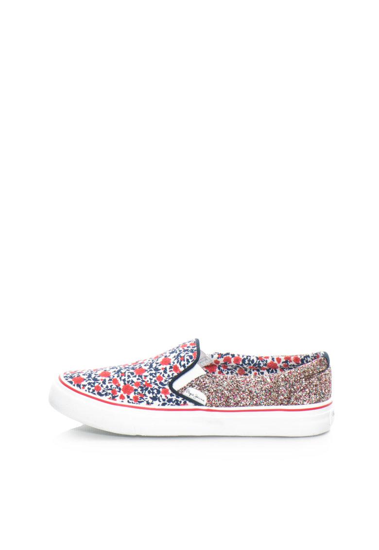 Pepe Jeans London Pantofi slip-on multicolori cu particule stralucitoare Alford