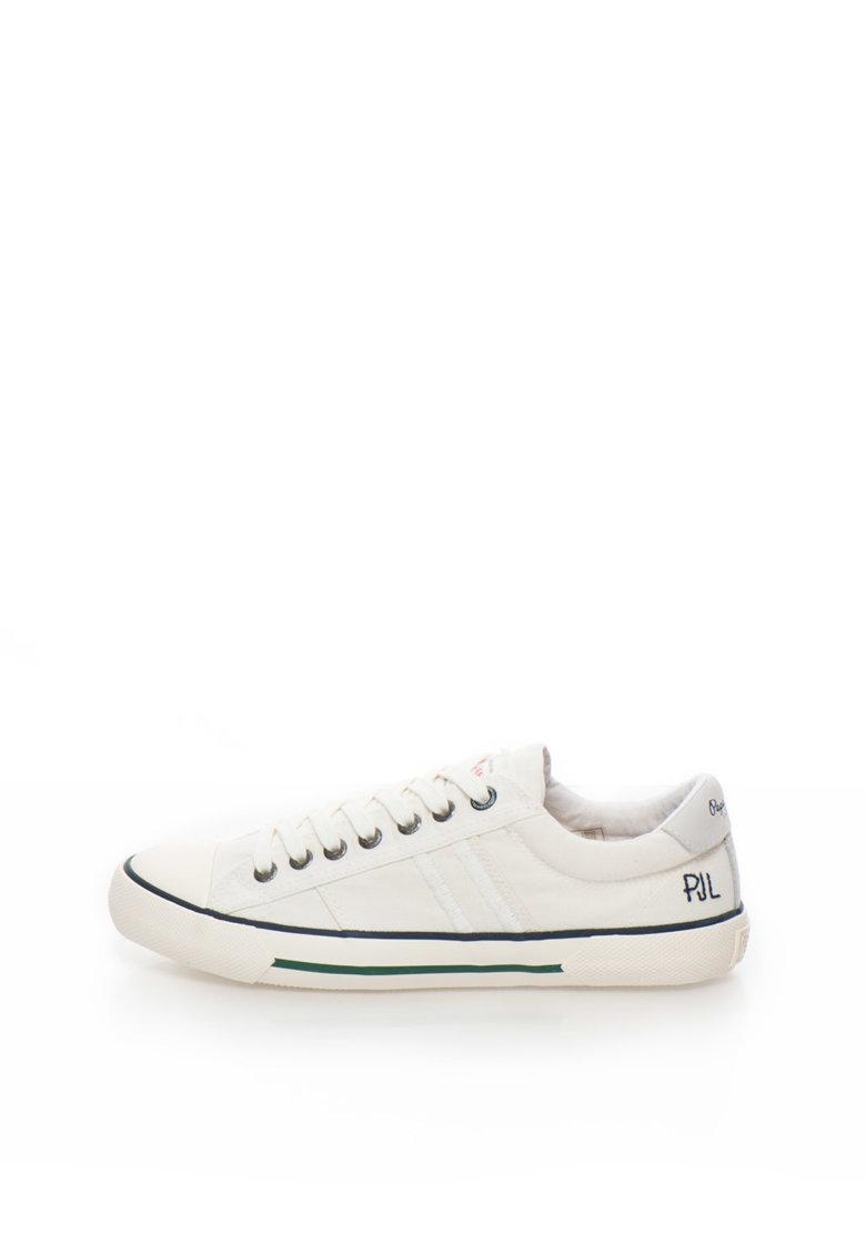 Pepe Jeans London Pantofi sport albi de panza Serthi