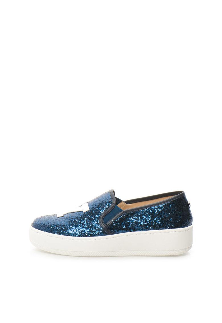 Steve Madden Pantofi slip-on albastru inchis stralucitori NYC