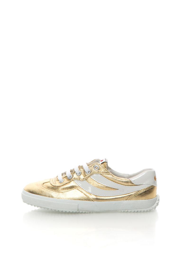 Superga Pantofi sport auriu cu alb Cotmetw