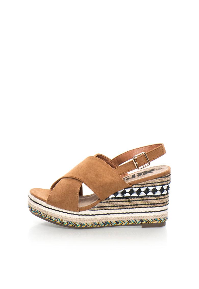 XTI Sandale slingback wedge maro