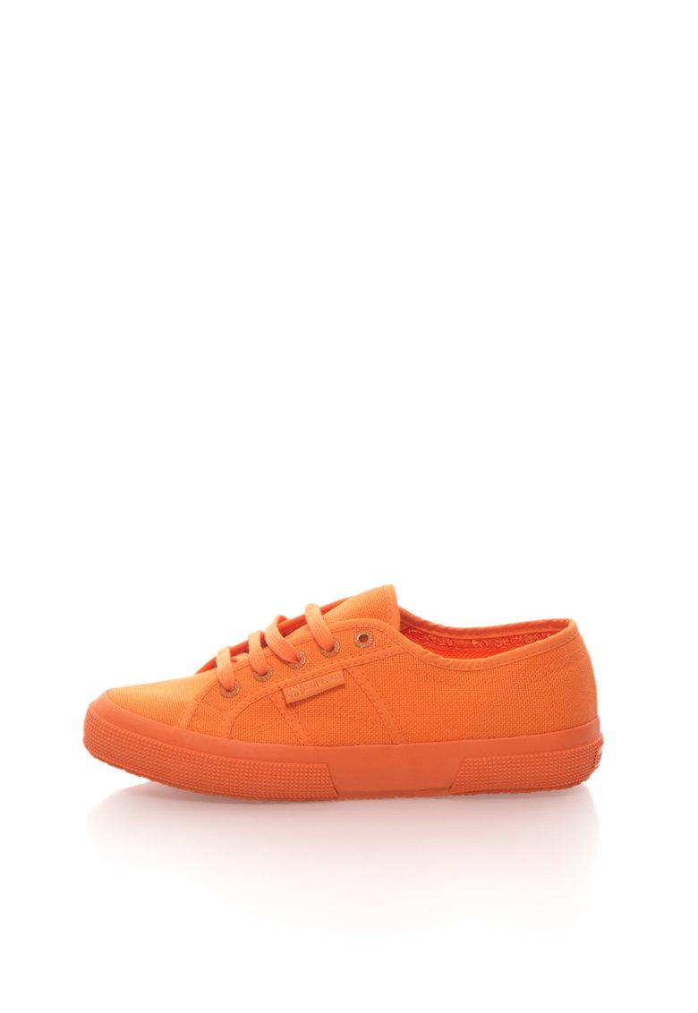 Superga Pantofi sport oranj intens cu sireturi Cotu Classic
