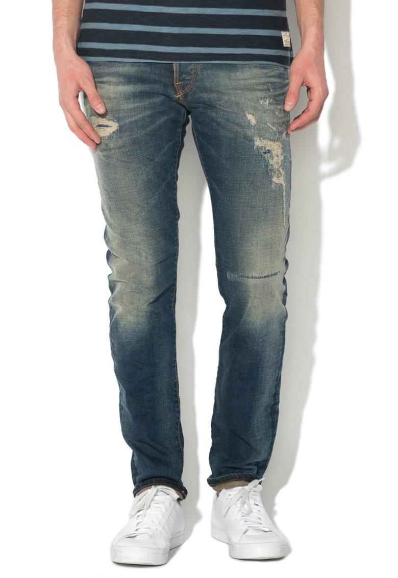JackJones Jeansi albastru inchis slim fit Glenn