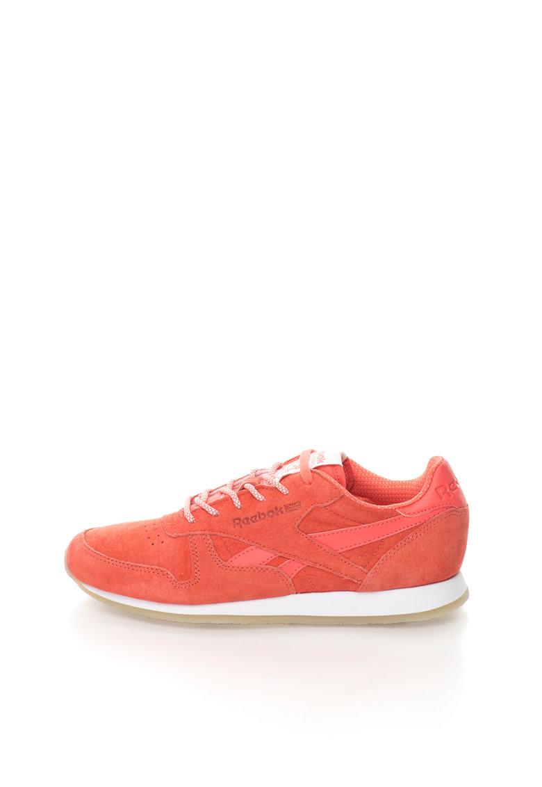 Reebok - Pantofi sport corai de piele intoarsa Sail Away