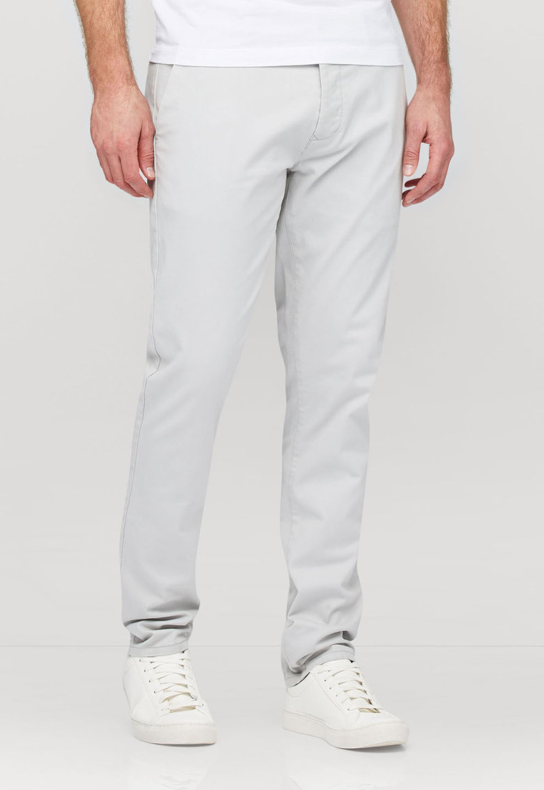 NEXT Pantaloni chino slim fit gri deschis