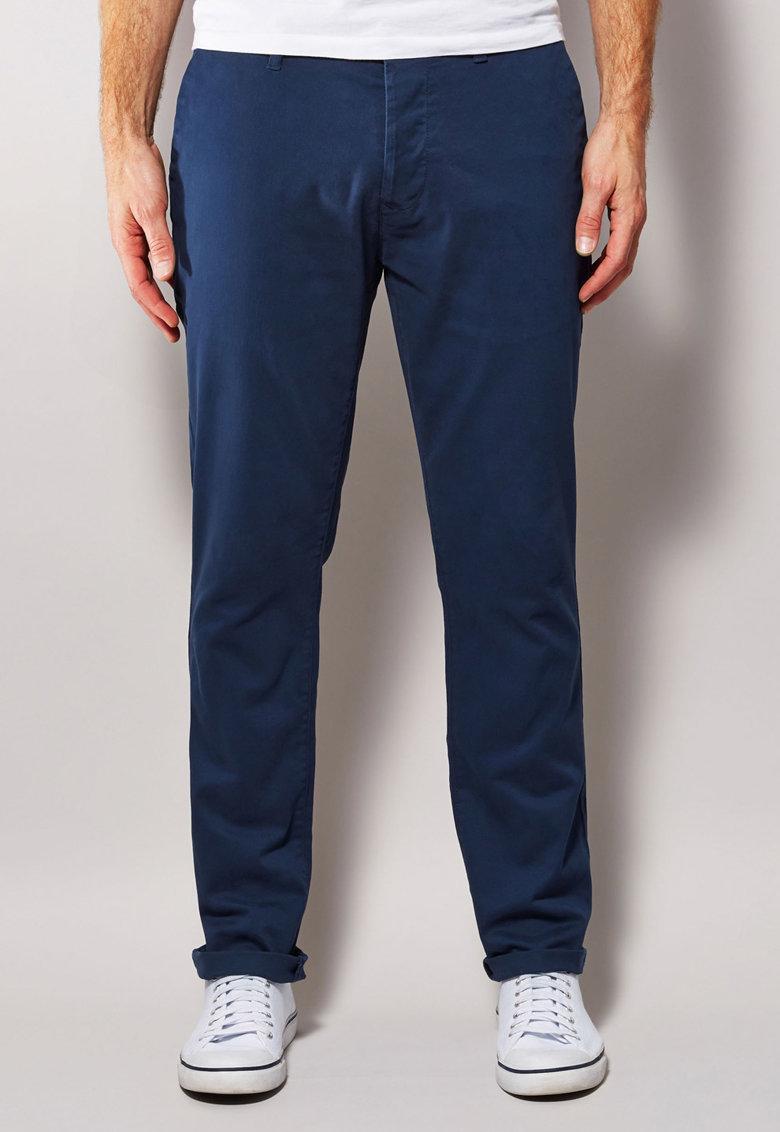 NEXT Pantaloni chino skinny albastru inchis