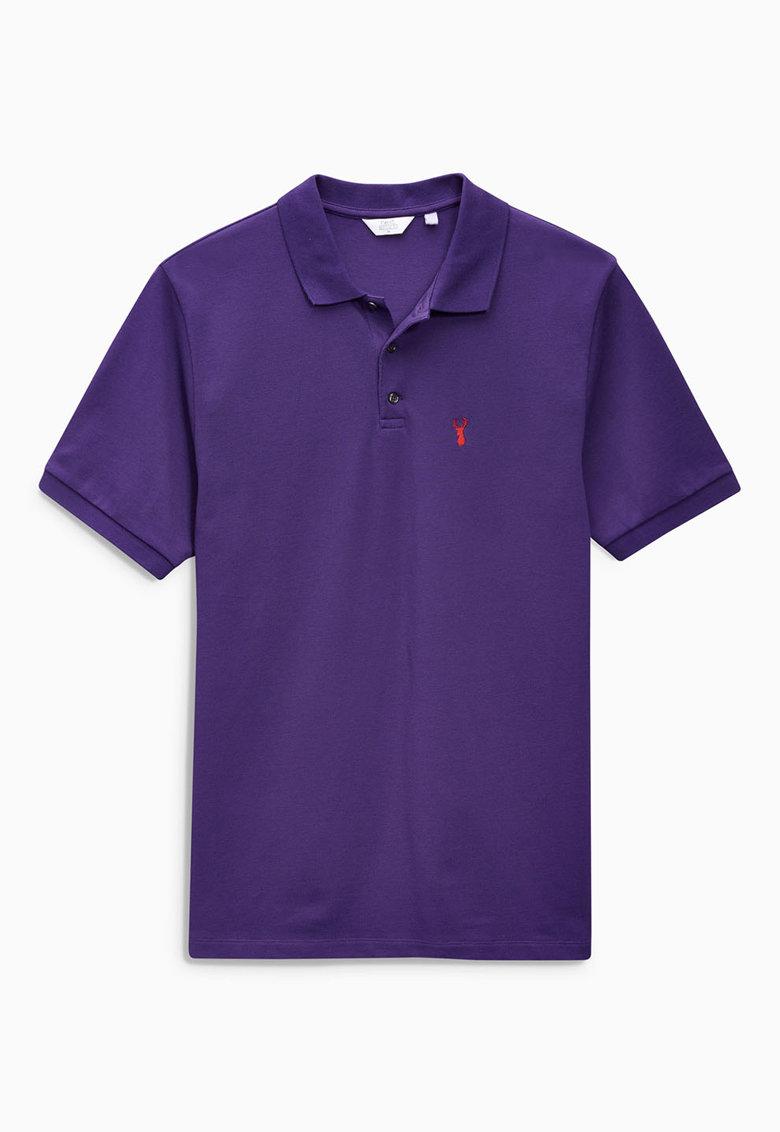 NEXT Tricou polo violet din pique