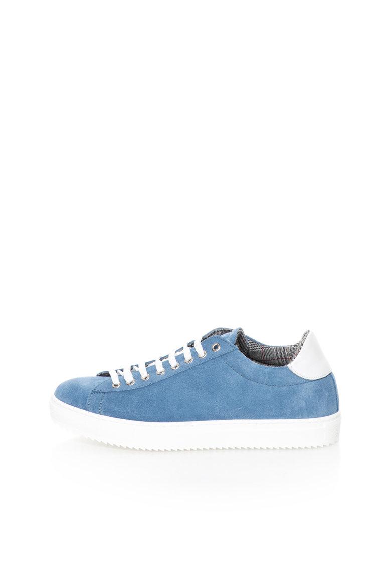 Zee Lane Pantofi sport bleu de piele intoarsa