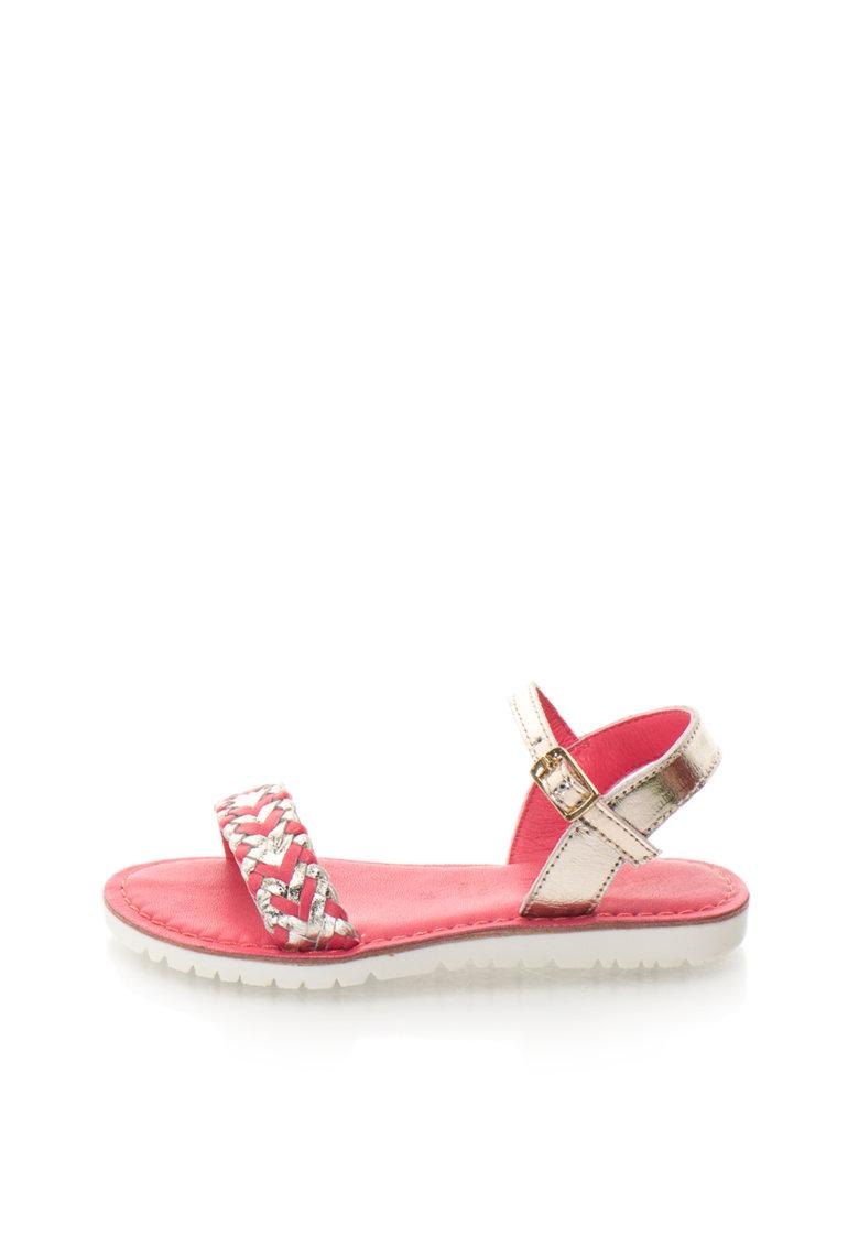 Zee Lane Sandale auriu deschis cu roz aprins de piele Alba