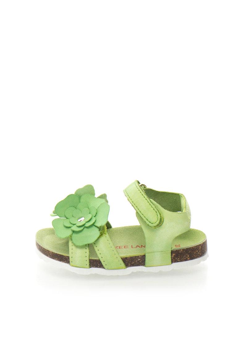 Zee Lane Sandale verzi cu aplicatii florale Ariel
