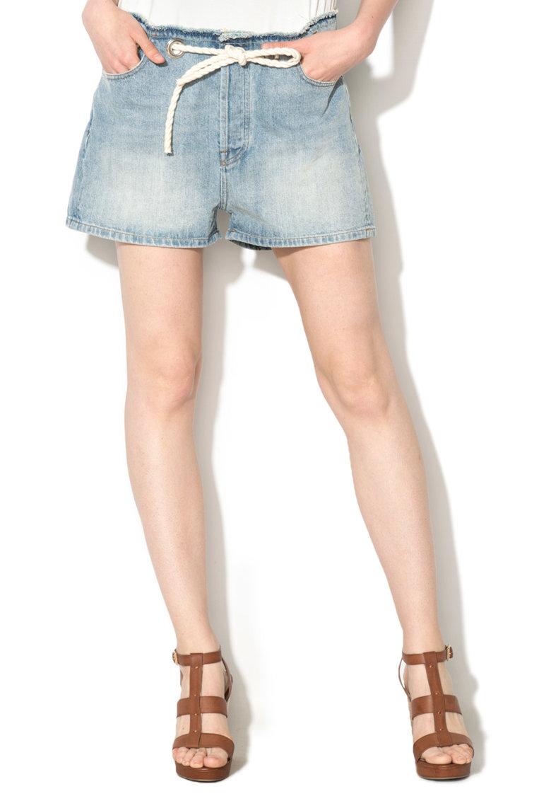 Pantaloni scurti bleu din denim Edith Diesel