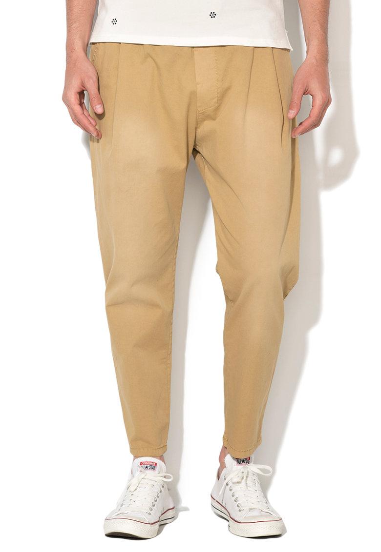 Zee Lane Denim Pantaloni jogger crop bej