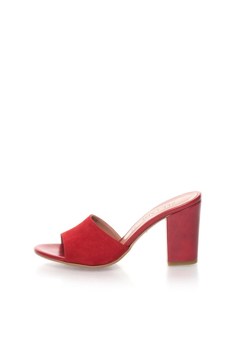 Zee Lane Sandale slip-on rosii de piele intoarsa Jenny