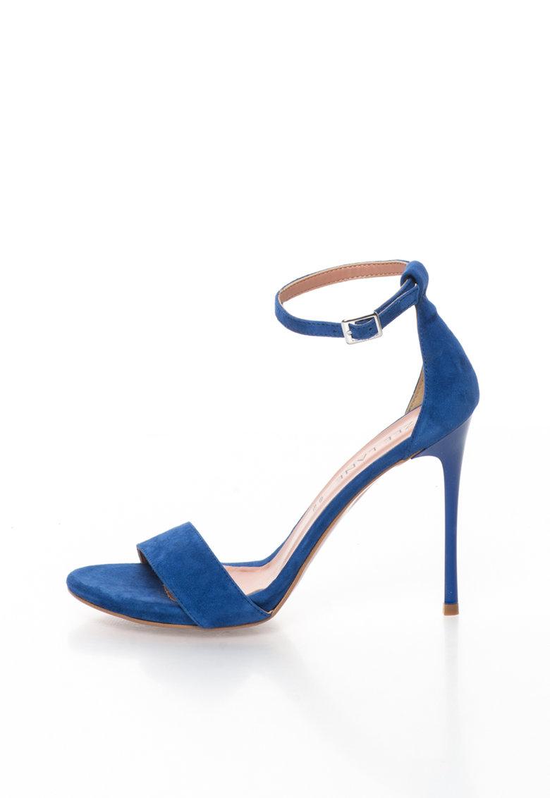 Zee Lane Sandale albastre de piele intoarsa cu toc cui Mary