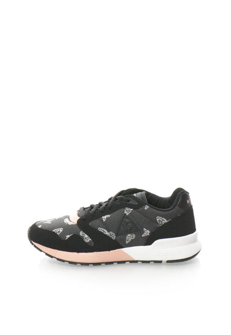 Le Coq Sportif Pantofi sport negru cu gri si imprimeu OMEGA