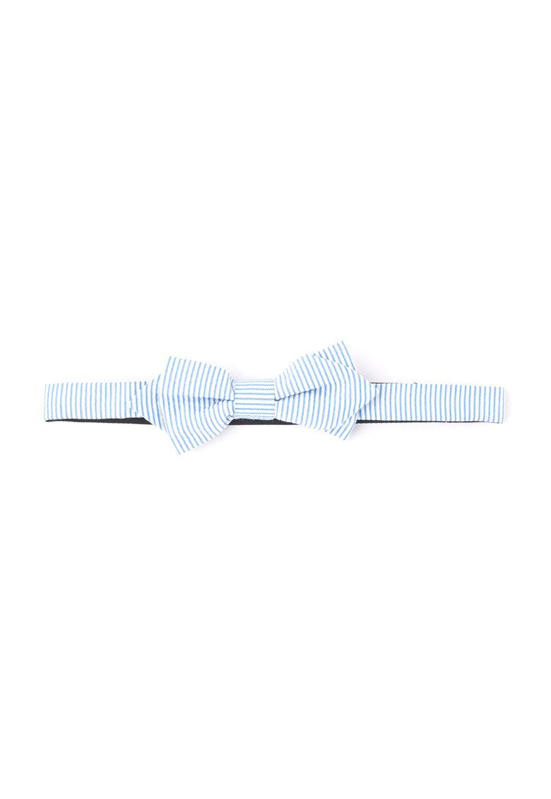 Esprit Papion alb cu albastru in dungi texturat