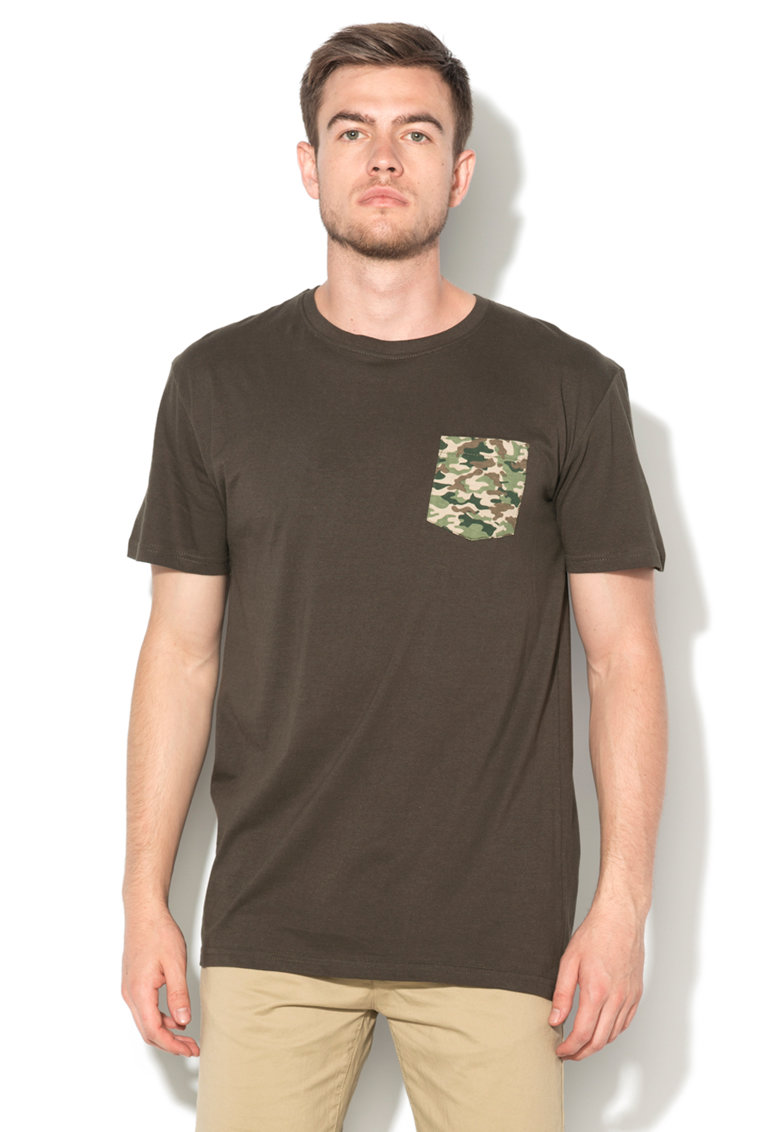 BRAVE SOUL Tricou long fit verde militar long fit Bovary